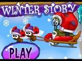 Мультфильм новое прохождение #1 онлайн игры Улитка Боб 6 Зимняя сказка