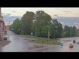 ДТП 18.06.17 Авто врезалось в ворота пожарной части. Рыбинск