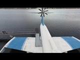 Экраноплан и подводная лодка в Тушино (осень)