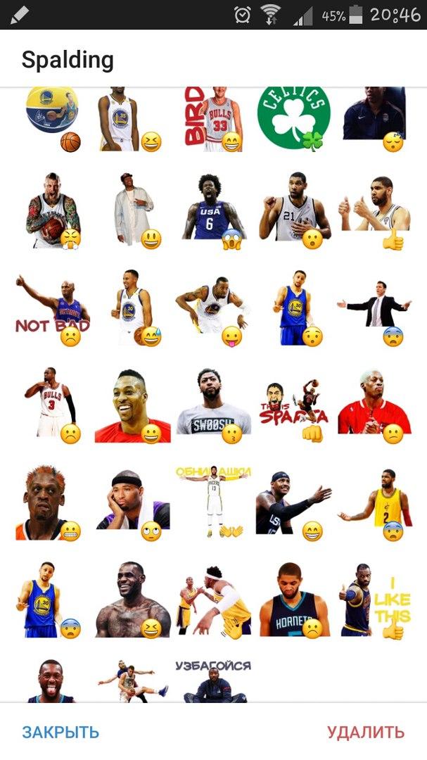 Стикеры НБА для Телеграмм