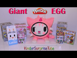 Гигантское Плей До Яйцо ТОКИДОКИ Cactus Kitties MOOFIA UNICORNO Giant PlayDoh Egg ToKiDoKi