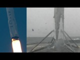 SpaceX Falcon 9 launches Iridium-2 &amp Falcon 9 first stage landing, 25 June 2017