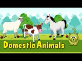 Learn Domestic Animals  Animated Video For Kids  English Animation Video For Children