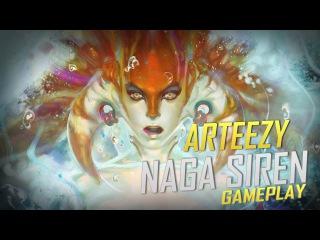 Arteezy playing Naga Siren (Gameplay)