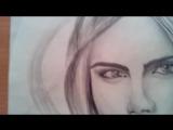 Бутикенова Динара.Портрет карандашом.