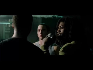 8 Миля (8 mile) вырезанная сцена 2002 вырезанный батл. Эминем (Eminem)нахуй порвал зал задал жару под биточек