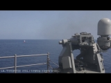 US_Navy_LIVE_FIRE_exercise!_SUPER_POWERFUL_Mk_38_and_50-caliber_fire_at_GIANT_KILLER_TOMATO!