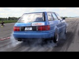 SLEEPER! 800HP Audi S2 Avant FROM HELL!! Insane QUATTRO Burnouts!