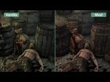 Skyrim Special Edition - Сравнение Visual Mod Overhaul vs. Vanilla (Candyland)