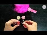 DIY Handmade Rhinestone For Shabby Feather Headband
