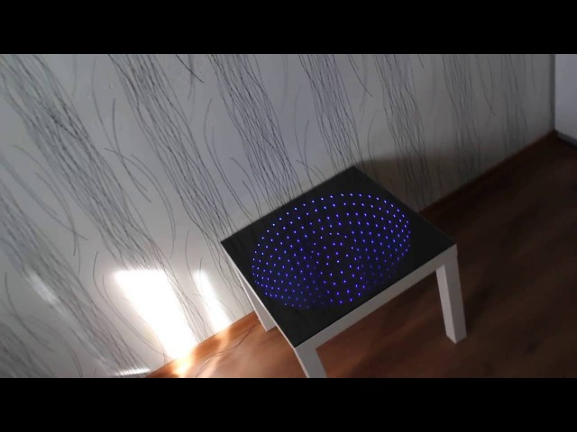 столик с 3D подсветкой бесконечного зеркала