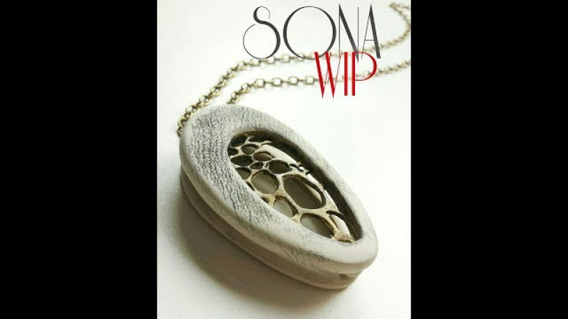 Polymer Clay Tutorial EmbroideryDouble Pendant 2 in 1
