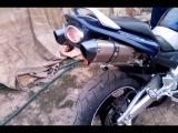 Прямоточный глушитель с заглушкой для мотоцикла универсальный