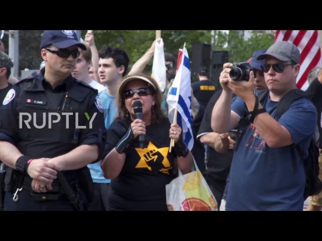 Канада: Лига Защиты Евреев нарушает марш в Торонто Аль-Кудс.