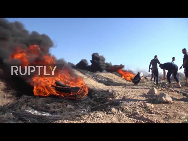Государство Палестина: Протестующие столкнулись с Израильскими безопасности силами в День Аль-Кудса.