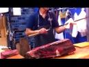 Люди 80 уровня Быстрая нарезка и разделка ножом от поваров профессионалов своего...