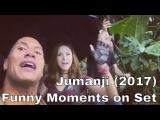 Jumanji (2017) Funny Moments on Set w Dwayne Johnson, Karen Gillan, Jack Black and Kevin Hart