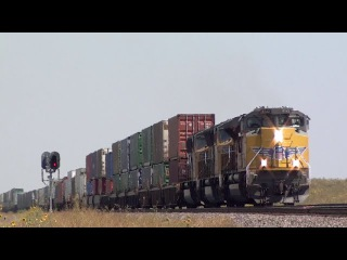 HiDef: Union Pacific High Plains Railroading on Sherman Hill The Overland Route, 8-17-15.