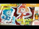 Quick and Easy Recipe Cookie Dough for Simple Gingerbread Cookies and Decorate with edible images