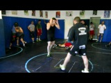 Karo Parisyan and Karen D. training at SK Golden Boys Wrestling Club