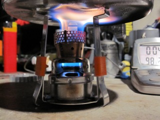 Wax stove G-MICRO PSL (Personal Stove & Light) - Boil Test #1