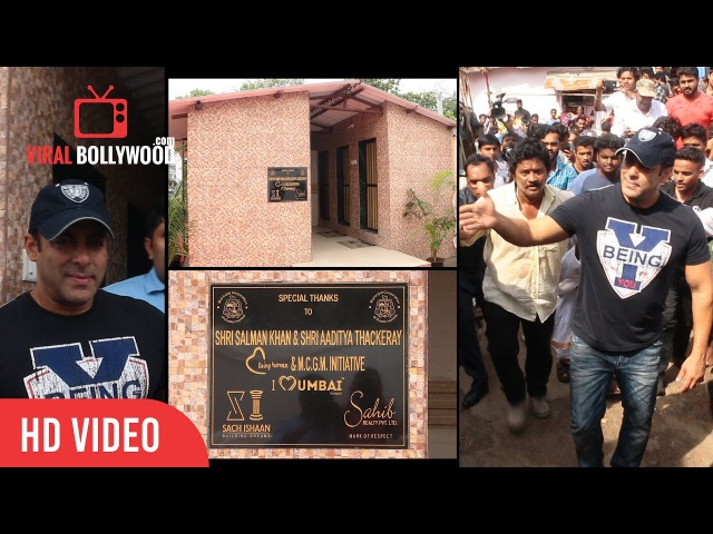 Salman Khan Launches Mobile Public Toilet In Aarey Colony Along With Shri Ajoy H Mehta
