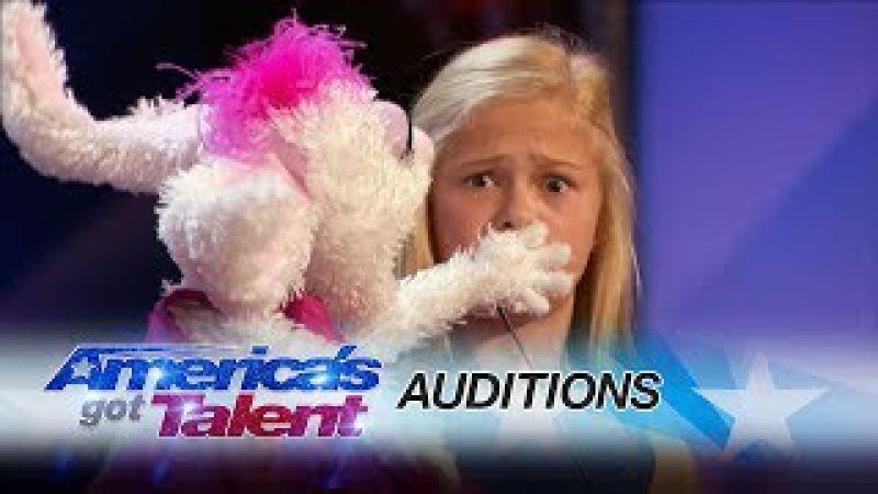 Darci Lynne: 12-Year-Old Singing Ventriloquist Gets Golden Buzzer - America's Got Talent 2017