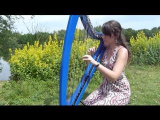 Marion Le Solliec Девушка красиво играет на арфе Nothing else matters - METALLICA - electric harp (electroharp) and electric