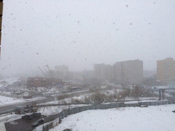 Только что в Кондратово заглянула зима! Зима, ты сошла с ума - уходи!