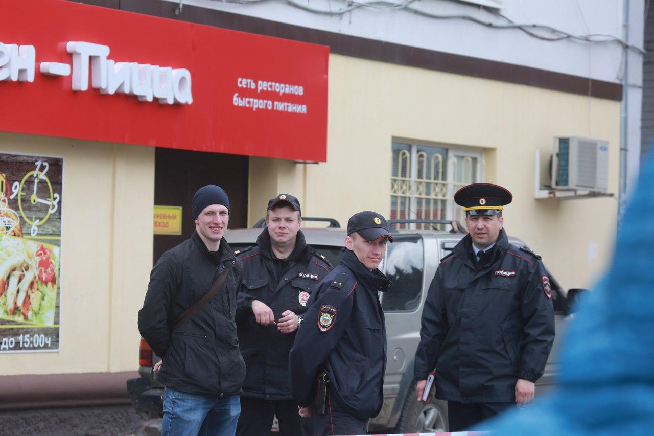 ВБрянске наПлощадь Партизан принесли гранату