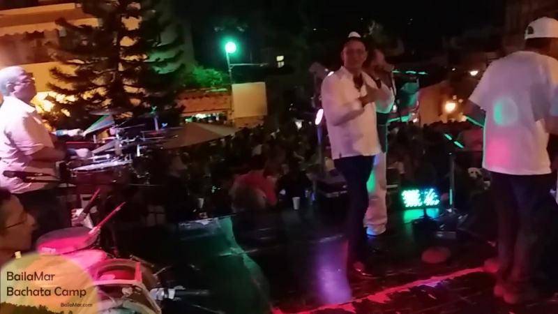 Grupo Bonye. Merengue in Santo Domingo. Концерт на улице в Санто-Доминго