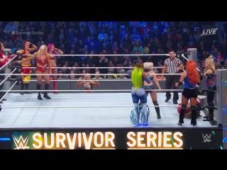 720pHD WWE Survivor Series 2016 Team Raw: Charlotte vs Team SmackDown: Nikki Bella Full Match