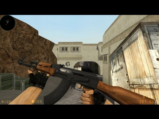 AWP and AK47 from Counter Strike Classic Offencive