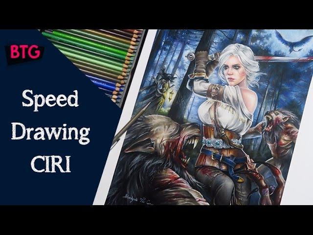 Witcher 3 - CIRI Speed drawing