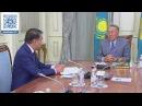 Нұрсұлтан Назарбаев Жоғарғы сот төрағасы Қайрат Мәмиді қабылдады.
