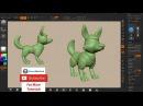 Zbrush Tutorial - Dog Character Creation Part01 - Blocking