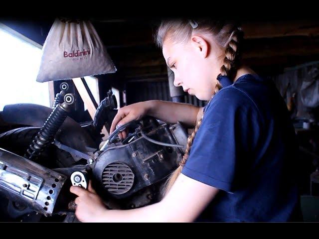 НАЧИНАЕМ ВОССТАНОВЛЕНИЕ КИТАЙСКОГО СКУТЕРА|Разборка двигателя|ЧАСТЬ 1