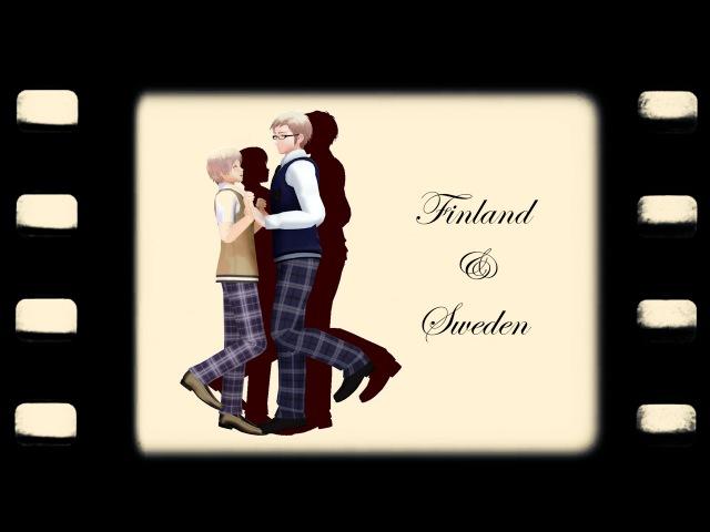 Posin' meme | MMD Hetalia Nordics (SuFin, DenNor, HongIce) | 1080p60