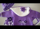 Вязаные детские платья кофты и жилеты на маленьких детей