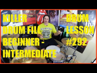 Killer Drum Fill For Beginner to Intermediate Drummers - Drum Lesson #292