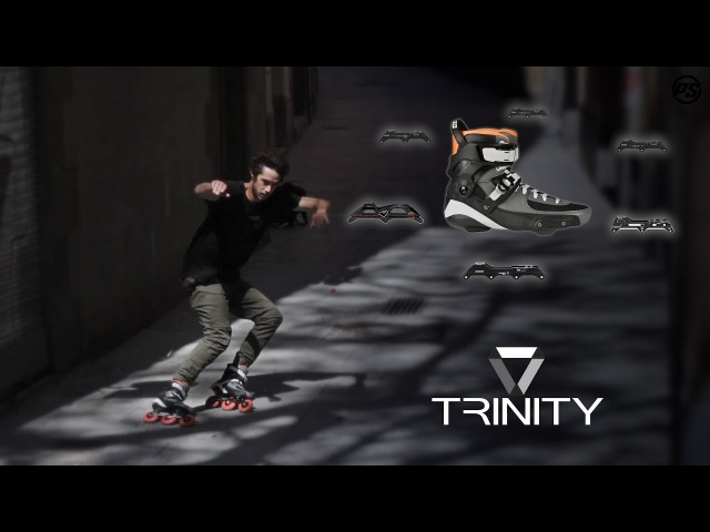 Nick Lomax on TRINITY - Powerslide Urban Inline Skate frames Tau Trinity boot 520000