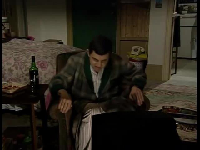 Mr.Bean watching Russian TV