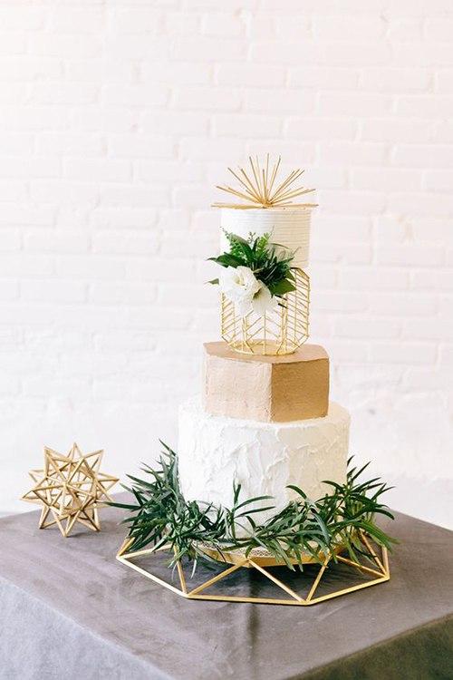Геометрические свадебные торты (6 фото)