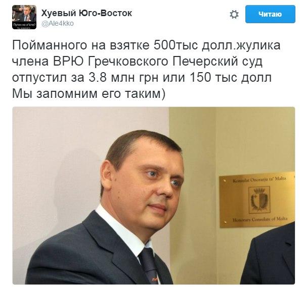 """""""Примененный залог – ну, он более для меня подъемный"""", - член ВСЮ Гречковский, подозреваемый в мошенничестве - Цензор.НЕТ 7093"""