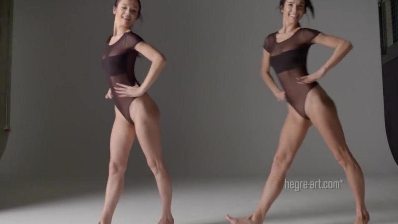 Cпорт танец йога фитнес без одежды