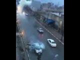UFO or Lightning striking hitting moving car