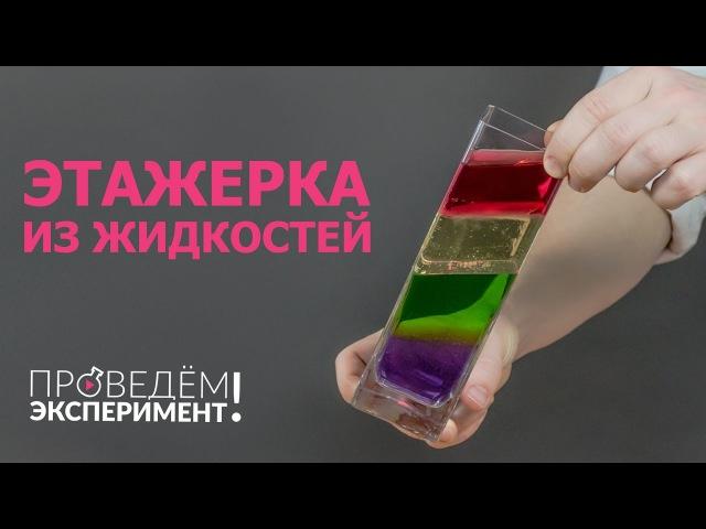 Этажерка из жидкостей. Проведём эксперимент! №10