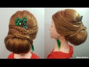 Прически для длинных и средних волос валик и косички колосок