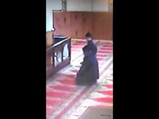 Father and son while praying. MashAllah :)
