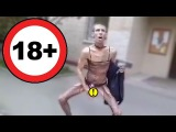 Алексей Панин в женском белье идет по улице и мастурбирует
